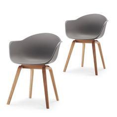 Met de romeo eetkamerstoelen set van 2 haal je de Scandinavische stijl in huis. Met de ergonomische vorm en armleuningen ideaal om lang te tafelen