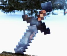 Picture of Minecraft Sword Letter Opener Minecraft Sword, Minecraft Crafts, How To Make Letters, Pvc Pipe, Making Out, The Incredibles, Shapes, Display, Lettering