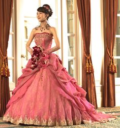 ~ Beautiful Unique Ball Gowns, couture, wedding, bridal, bride, dress, fantasy, flowers, flower, floral, flora, fairytale, fashion, designer, beautiful, stunning, prom dress, ball gown, Cinderella, satin, lace, velvet, bodice, vintage, Marie Antoinette, fashion, dress, dresses, elegant,