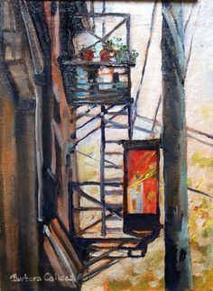 inch oil on canvas Fire Escape, 30 Day Challenge, Love Painting, 30th, Oil On Canvas, Challenges, Paintings, Artist, Art Ideas