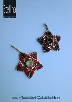 Diy Christmas Earrings, Christmas Diy, Star Ornament, Ornaments, Swarovski, Printed Pages, Peyote Stitch, Selling Jewelry, Make And Sell