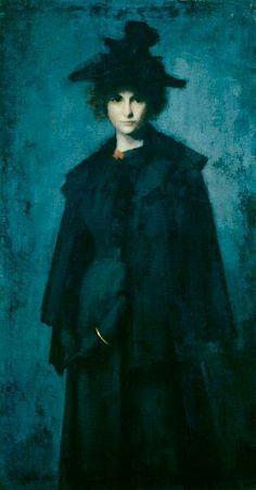 """""""Portrait of Mme. Laura Leroux"""", de Jean-Jacques Henner."""