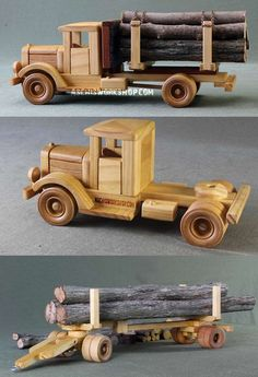 Truck Toys Plans Truck Toys Plans More Más The post Truck Toys Plans appeared first on Wood Ideas. Woodworking Furniture Plans, Woodworking For Kids, Woodworking Toys, Woodworking Projects, Popular Woodworking, Woodworking Quotes, Intarsia Woodworking, Wooden Toy Trucks, Wooden Car