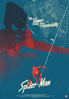 Spider-Man (Sam Raimi, Alternative Poster by Gokaiju Spiderman Sam Raimi, Spiderman 2002, Comics Spiderman, Spiderman Poster, Spiderman Movie, Superhero Poster, Amazing Spiderman, Marvel Movie Posters, Movie Poster Art