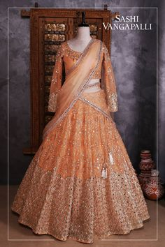 Brides you have one stop destination for all your bridal needs !!  Stunning bridal designer lehenga and blouse with net dupatta. Lehenga and blouse with hand embroidery cut and mirror work. For Enquiry:Contact : 9000777796Email  : sashivangapalli@gmail.com. 25 May 2018