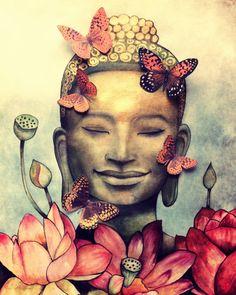 Dieser Druck ist von meinem original-Aquarell. Dieses Angebot ist nur für den Buddha, aber ich habe das Namaste-Bild, weil ich Thik sie gut zusammen passen. Namaste-Druck finden Sie in meinem YOGA Abschnitt. Bitte wählen Sie eine Größe in den oben genannten Optionen. Ich benutze