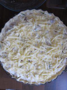 Cauliflower Cheese and Caramelised Onion Tart Caramelised Onion Tart, Caramelized Onions, Cauliflower Cheese, Frittata, Coconut Flakes, Tarts, Vegetarian, Rainbow, Colours