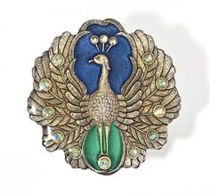 Signed Catherine Popesco Peacock Brooch