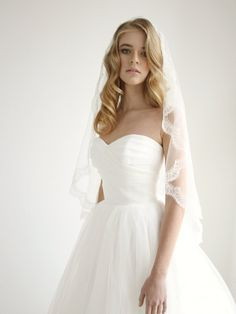 Beautiful silk mantilla wedding veil #wedding #veil by Honey Pie Bridal