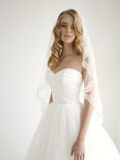 Beautiful silk mantilla wedding veil #wedding #veil by Honey Pie Bridal
