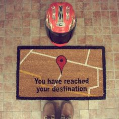 GPS Doormat fun:) #Door #doormat #tech