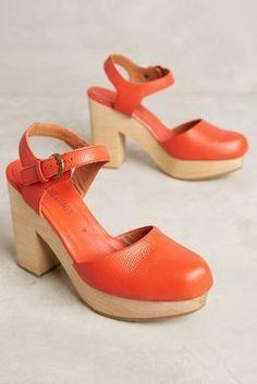 Orange clogs.. yes.