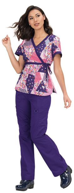 Our all-time best selling print top is flattering for all shapes and sizes. Mock-wrap style with adjustable ties at waist. Two patch pockets Side slits Length size Small - 27 Cotton SKU: Koi Scrubs, Beaded Trim, Scrub Tops, Beaded Flowers, Wrap Style, Patches, Printed, Cotton, Fashion