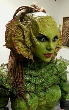 Creature from the black lagoon cosplay - AT&T Yahoo Image Search Results Makeup Fx, Movie Makeup, Face Off, Horror Make-up, Prosthetic Makeup, Monster Makeup, Monster Costumes, Fantasy Make Up, Theatrical Makeup