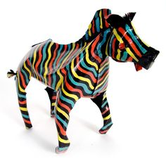 Fab.com | Painted Tin Zebra