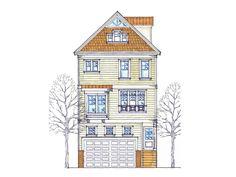 3-story narrow lot home   Floor plans   Pinterest   House, Craftsman