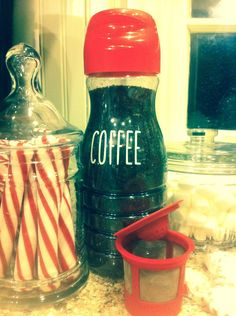 Camping Coffee Maker - Save your creamer bottles! Use to fill refillable K cups with coffee!