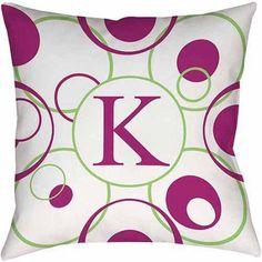 Thumbprintz Circle Variations Monogram Bright Decorative Pillows