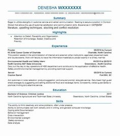 Safety Officer Sample Resume 9 Best Ofentse Images On Pinterest