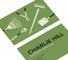 business cards for gardening business by small dots smalldotscouk - Garden Design Business Cards