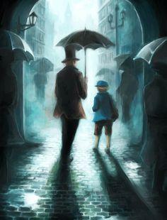 Professor Layton and Luke Fan Art Video Game Art, Video Games, Cherbourg, New Puzzle, True Gentleman, Animation, Steven Universe, Animal Crossing, Professor