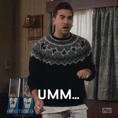 Trending GIF comedy pop david schitt's creek poptv eugene levy schitts creek david rose daniel levy what are you doing here why are you here um what are you doing here Eugene Levy, Catherine O'hara, Unbreakable Kimmy Schmidt, David Rose, Daniel Levy, Schitts Creek, Tv Show Quotes, My Spirit Animal, Golden Girls