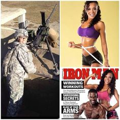 Support Military Muscle shares....  Chassidy Smothers: ''Love your site! I am 5 years in the Army & a cover model and spokesmodel for bodybuilding.com @chassidysmothers Whoop whoop support military muscle!!''
