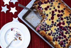 Witte chocolade en bsovruchtencheesecake
