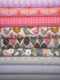 Fabricworm Custom Bundle, Pretty in Pink in FAT QUARTERS 9 Total - I like a lot of these fabrics