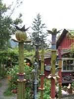 Clay totems, but a little too much fairy dust for my taste.....I do like the seed pods though