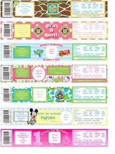 Personalized Custom Photo Gerber Baby Food Jar Labels Baby Shower ...