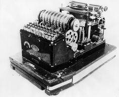 The Enigma machine was invented by the German engineer Arthur Scherbius at the end of World War I. It was used extensively in World War II for cryptography.