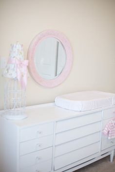 Love this changing table and the whole nursery is adorable