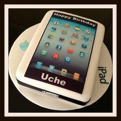 iPad novelty cake  Cake by Inafoodieworld