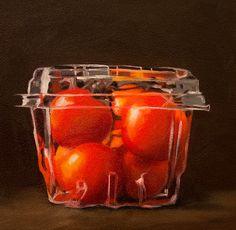 Lauren Pretorius Original Art Oil Painting Food Still Life Trapped Tomatoes | eBay