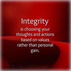 Targets Have Integrity