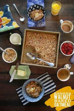 Bake Oatmeal today and have it for breakfast throughout the week!