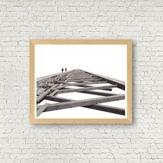 Photo architecture, photo noir et blanc, photo New York, ancienne photo, téléchargement instantané, décor contemporain, art contemporain de la boutique MamzelleJules sur Etsy