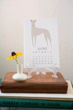 2014 Illustrated Dogs Calendar with Display Easel by Gingiber