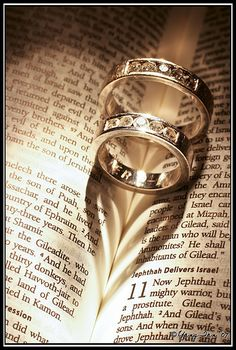 Rings in the bible make a heart!!  To all my friends who are getting marrried....what a wonderful foundation to start with   <3