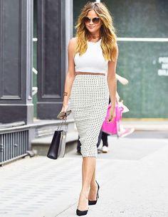 O comprimento midi é um must-have das fashion girls para deixar um look mais chic.