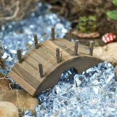 Miniature Fairy Garden Wooden Bridge