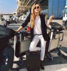 Travel in style - Louis Vuitton - Luggage - Kristina Bazan - outfit - airport - l'Etoile luxury vintage