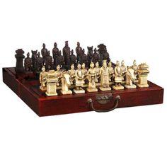 (32 Peças) Elaborar Chinesa Clássica de Madeira Manual de Guerreiros De Terracota De Xadrez, com Caixa Vermelha em Garrafas, Frascos & Caixas de Home & Garden no AliExpress.com | Alibaba Group