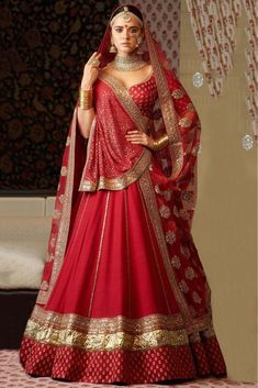 Red Colour Taffeta Silk Fabric Party Wear Lehenga Choli Comes With Matching Blouse. This Lehenga Choli Is Crafted With Embroidery. This Lehenga Choli Comes With Unstitched Blouse Which Can Be Stitched...