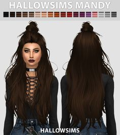 Hallow Sims: Mandy hair  - Sims 4 Hairs - http://sims4hairs.com/hallow-sims-mandy-hair/