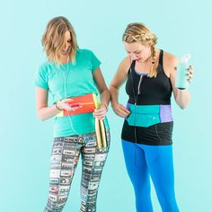 How to Make a DIY Running Belt for Stashing Your Phone via Brit + Co
