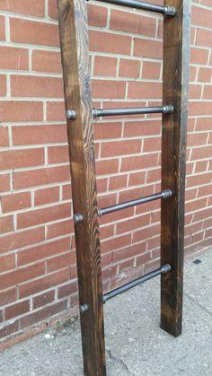 Rustic industrial pipe and wood blanket by PipeAndWoodDesigns