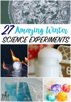 winter science experiments for kids - great collection of science experiments, STEM, STEAM activities for kids | Winter theme | winter activity | ice experiments | snow experiments