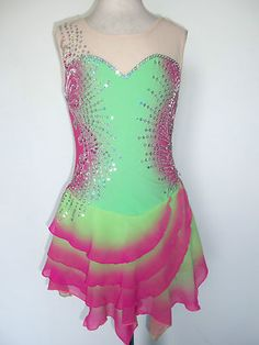 Custom Made New Ice Skating Baton Twirling Dress | eBay
